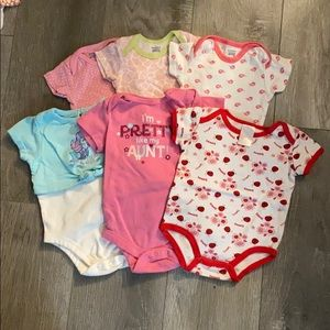 Lot of Six 3-6 Month Onesies